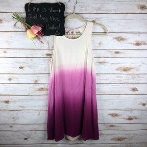 Entro ombré layered sleeveless tie back tunic top